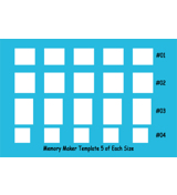 Memory Maker Multi-Size Template 5 of each size