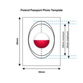 Poland Passport Photo Template