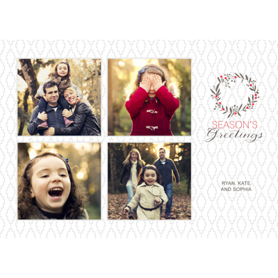 delicate wreath collage 10pk holiday cards gift specifications