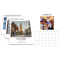 2019 A4 ring bound calendar Box Layout with square images & text