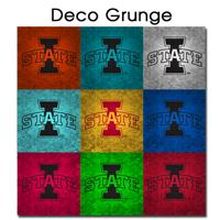 Ceramic Tile - 12x12 ISU PopArt Deco Grunge