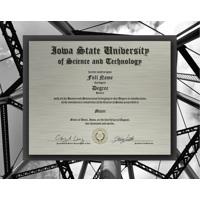Inside Marston Tower Metal Diploma