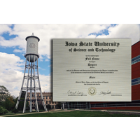 Marston Tower in Color Metal Diploma