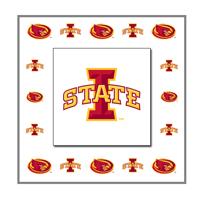 ISU Raised Panel Metal Art Current Logos 88