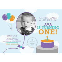Creative First Birthday Invitation - Clouds - Set of 25 Cards