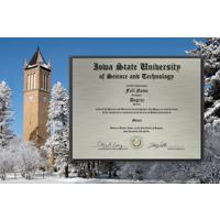 Campanile Winter Metal Diploma