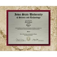 Slate Diploma on Metal