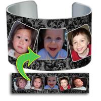 Cuff Bracelet - 5-Frame Grunge Damask