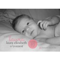 Pink Dot Birth Announcement Single Card