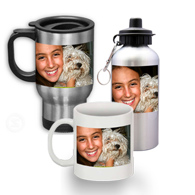 Photo Mugs, Water Bottles, Steins and Drinkables