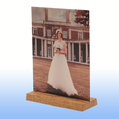 5x10 Wooden Base Clear Matte Metal Print