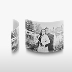 3.5x5 Arched Desktop Gloss White Metal Print