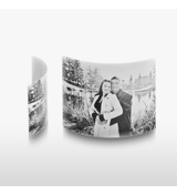 5x7 Arched Desktop Gloss White Metal Print