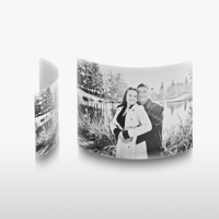 8x12 Arched Desktop Gloss White Metal Print
