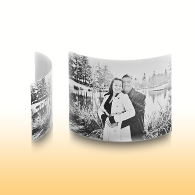 8x10 Arched Desktop White Matte Metal Print