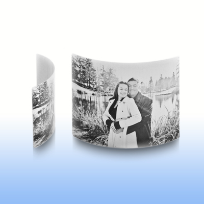 8x10 Arched Desktop Clear Matte Metal Print