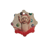 Snowflake Wood Ornament Double Sided