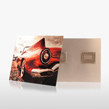 10x10 Gloss White Metal Print