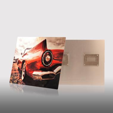 10x10 Clear Gloss Metal Print