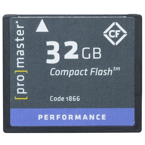 ProMaster-CompactFlash High Speed 60x 32GB #1866-Memory cards, tape and discs