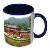 Dark Blue handle/inside Mug