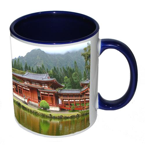Dark Blue handle/inside Mug
