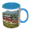 Light Blue Handled Mug