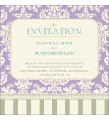 Vintage B - 1 Sided Invitation