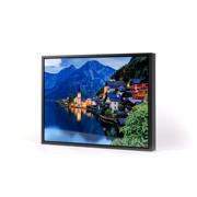 14x11 Horizontal Black Frame Metal Panel