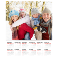 20 x 24 Poster Calendar with 1 Image.