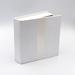 White Linen with Ribbon USB Folio
