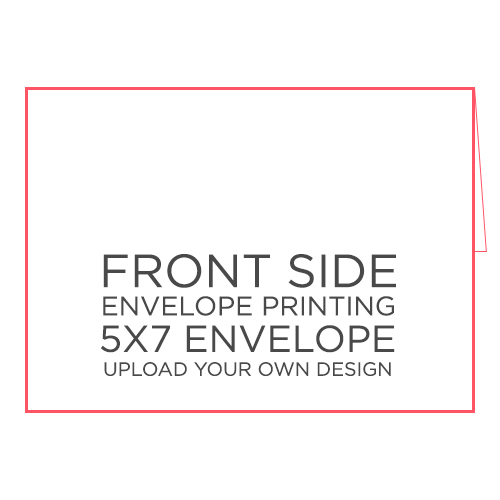50pk - 5x7 Envelope w/ Printing on Front Side