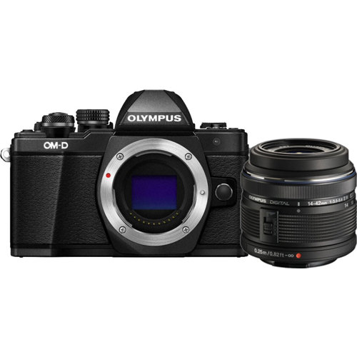 Olympus-E-M10 Mark II OM-D System Camera with 14-42mm II R Lens-Digital Cameras