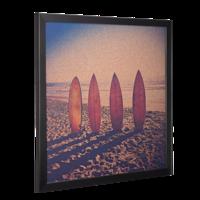 20x20 Black Framed Photo Corkboard