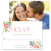 Floral - 2 Sided RSVP  3.5x5