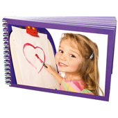 "5"" x 7"" Spiral Bound Book - Purple Border"