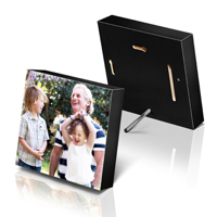 12.7 x 12.7cm Black Photo Block (Gloss)