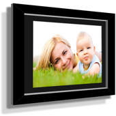 "11x13"" Custom Framed Print - 5x7"" Print in Black Frame w Black Matting"