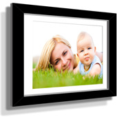 "11x13"" Custom Framed Print - 5x7"" Print in Black Frame w White Matting"