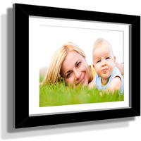 "11x13"" Custom Framed Print - 5x7"" Print in Black Frame w White Matting"