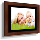 "19x23"" Custom Framed Print - 12x17"" Print in Brown Frame w Black Matting"