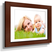 "11x13"" Custom Framed Print - 5x7"" Print in Brown Frame w White Matting"
