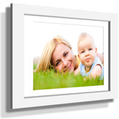 "11x13"" Custom Framed Print - 5x7"" Print in White Frame w White Matting"