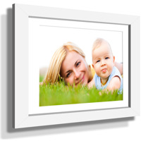 "15x21"" Custom Framed Print - 9x15"" Print in White Frame w White Matting"