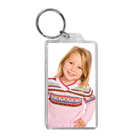 Large Rect. Photo Keyring