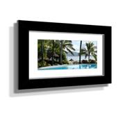 "16x28"" Custom Framed Print - 7x19"" Print in Black Frame w White Matting"