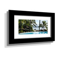 "16x28"" Custom Framed Print - 7x19"" Print in Black Frame w White Matting"
