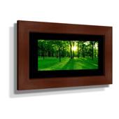 "16x28"" Custom Framed Print - 7x19"" Print in Brown Frame w White Matting"