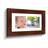 "16x28"" Custom Framed Print - 7x19"" Print in Brown Frame w Black Matting"