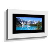 "16x28"" Custom Framed Print - 7x19"" Print in White Frame w Black Matting"
